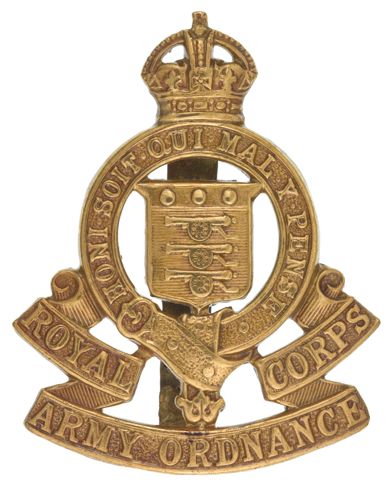 Other ranks' cap badge, Royal Army Ordnance Corps, c1922