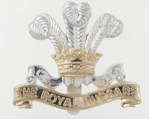 Other ranks cap badge, Royal Hussars (Prince of Wales's Own), c1991