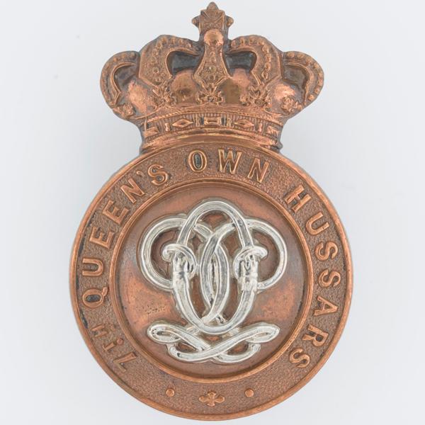 Cap badge, 7th (Queen's Own) Hussars, c1900