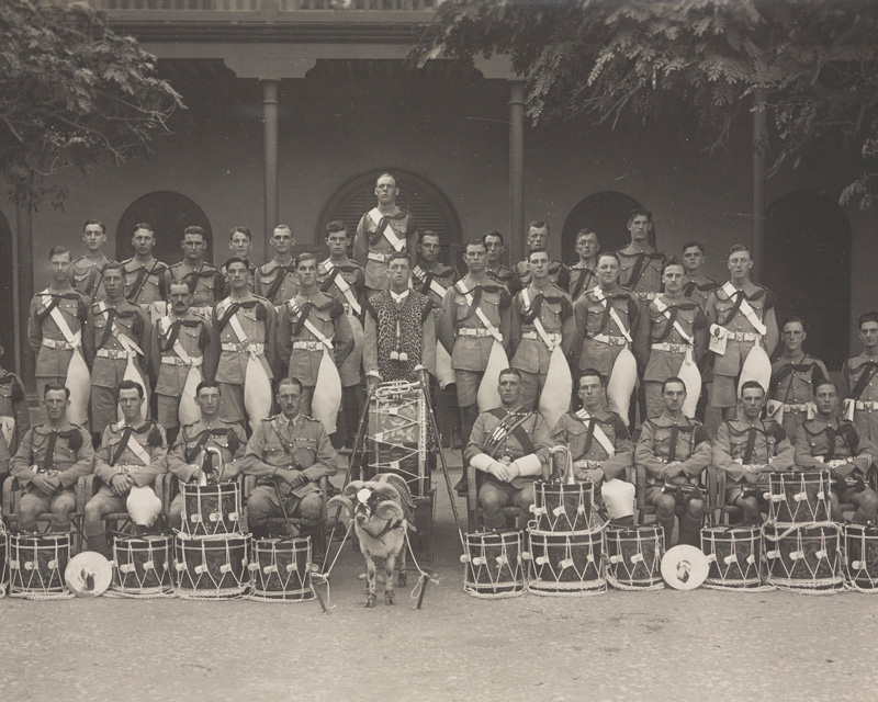 Drummers of 2nd Battalion The Sherwood Foresters in Alexandria, c1920