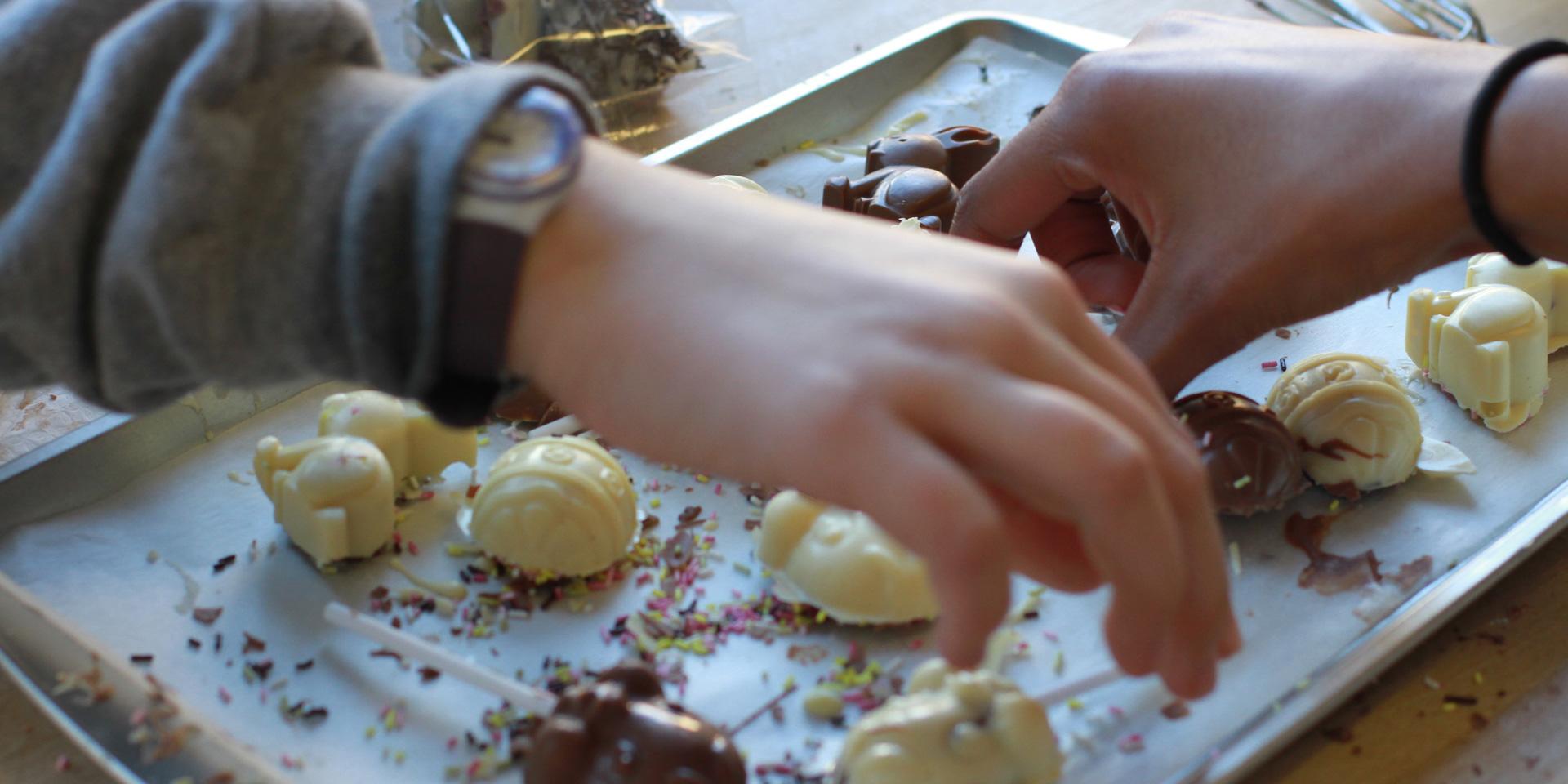 Children's chocolate decoration workshop