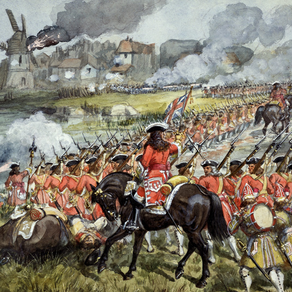 The 16th Regiment of Foot at Blenheim, 1704