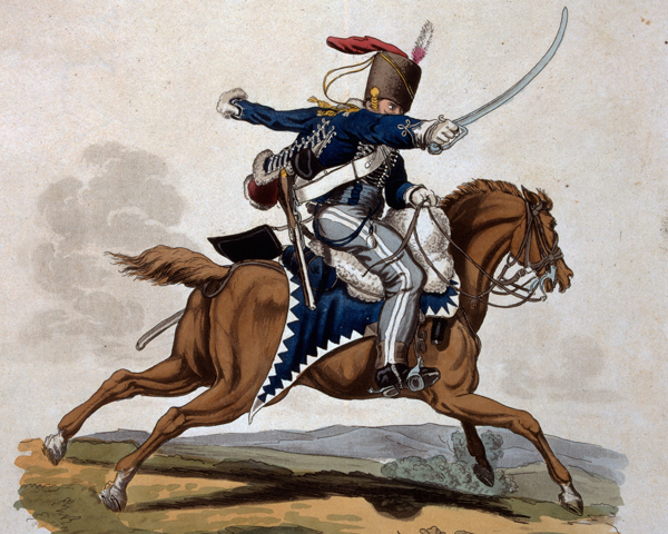 A private of the 7th Queens Own Hussars, 1812