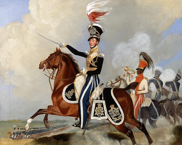 Major James Hugonin, 4th (Queen's Own) Light Dragoons, c1820