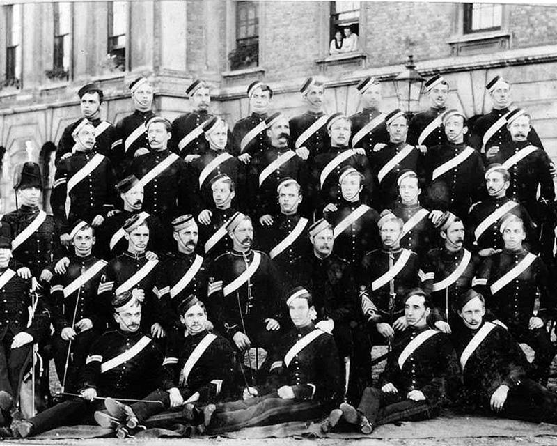 Members of 'H' Troop, 3rd King's Own Hussars, Aldershot, 1882