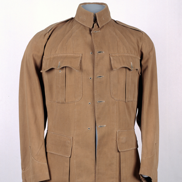 Drill tunic worn by Captain Charles Hodgson, 2nd Battalion, The South Staffordshire Regiment, 1910