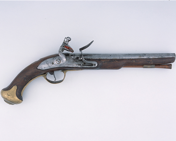 Flintlock pistol used by Lieutenant-General Richard St George, Colonel of the 8th Dragoons, c1750