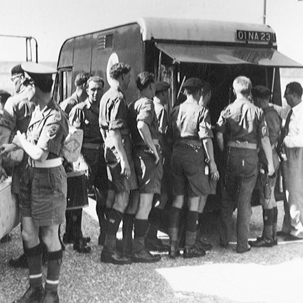 A NAAFI van serving the Queen's Own Royal Irish Hussars, Penang, 1962