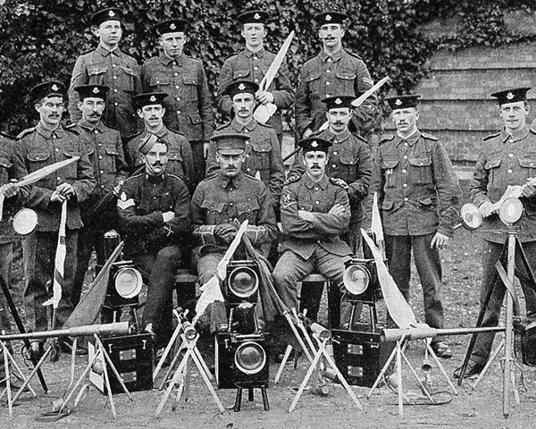 Signallers of the 8th (King's Royal Irish) Hussars, c1908