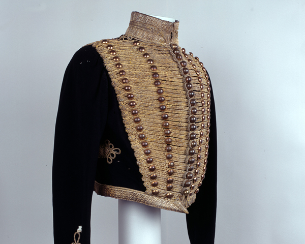 Jacket worn by Lieutenant Colonel John Wilkie, 10th (Prince of Wales's Own) Hussars, c1854