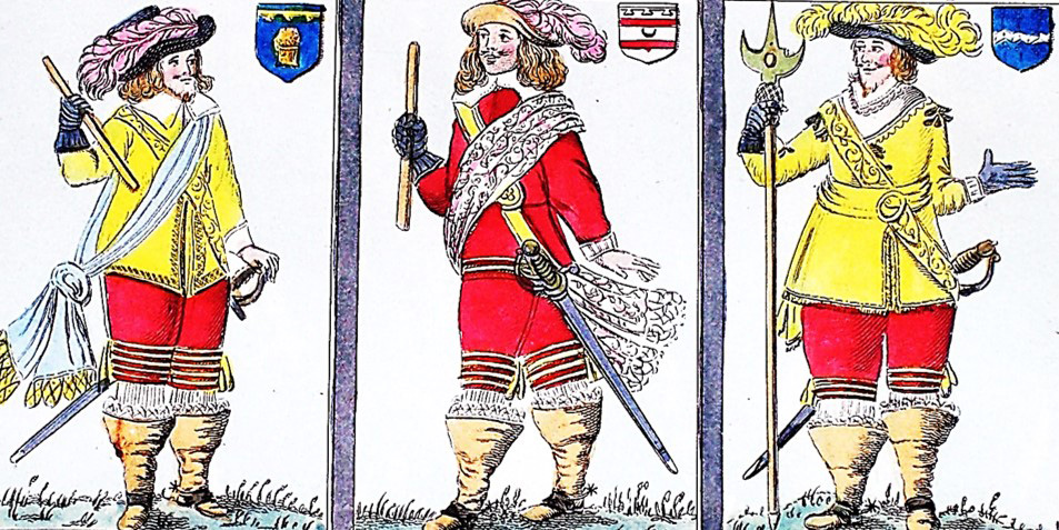 A trio of officers from the English Civil War