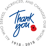 The Royal British Legion's Thank You logo