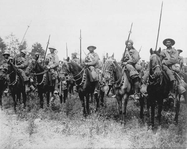 20th Deccan Horse await the order to advance on the Somme, 14 July 1916