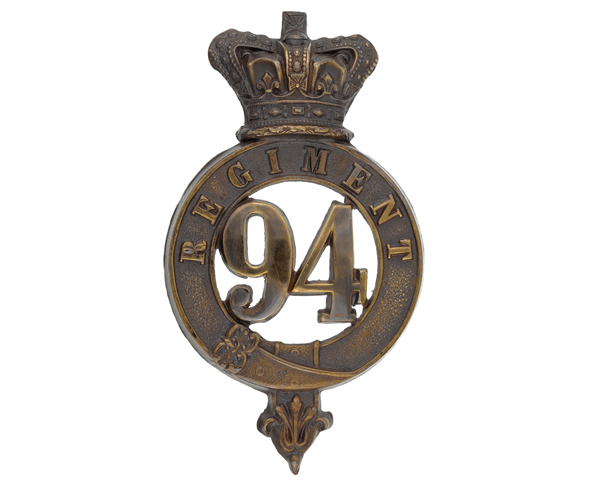 Other ranks' glengarry badge, 94th Regiment of Foot, c1874