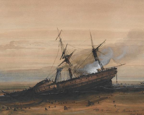 The wreck of HMS 'Birkenhead', 1852