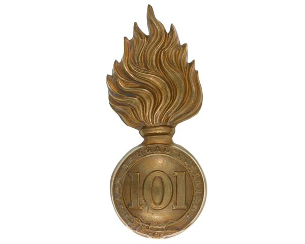 Other ranks' busby badge, 101st Regiment of Foot (Royal Bengal Fusiliers), c1862