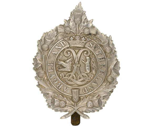 Cap badge, Princess Louise's (Argyll and Sutherland Highlanders), c1914