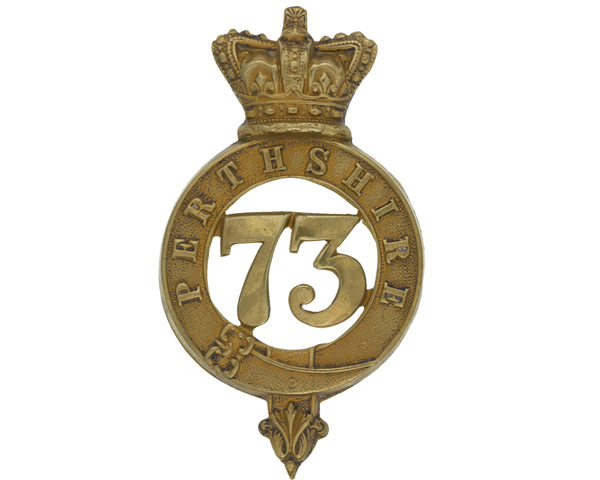 Glengarry badge, 73rd (Perthshire) Regiment of Foot, c1874