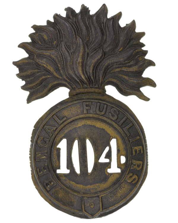 Other ranks' glengarry badge, 104th Regiment of Foot (Bengal Fusiliers), c1874