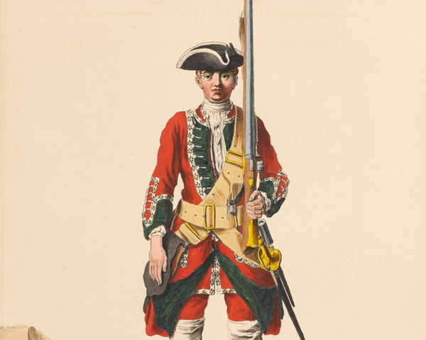 Private of the 45th Regiment of Foot, 1742