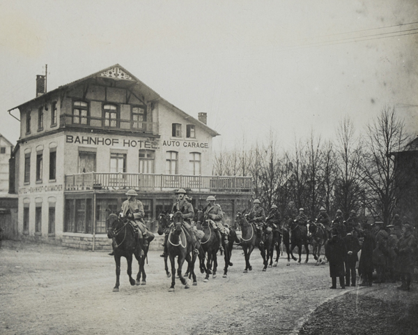 1st Cavalry Division entering Malmedy, 1 December 1918