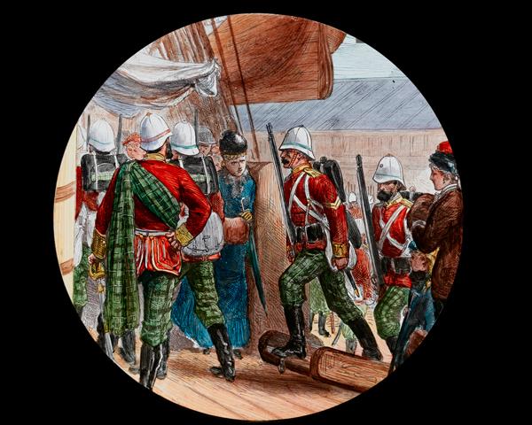 91st Highlanders embarking at Southampton for the Zulu War, 1879