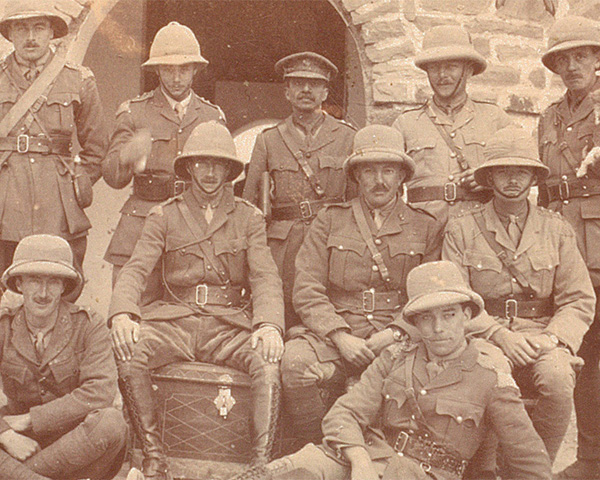 Officers of the 28th Light Cavalry at Meshed, 1918