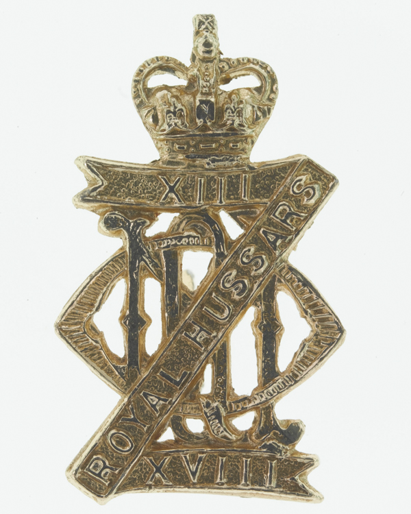 Collar badge, other ranks', 13th/18th Royal Hussars (Queen Mary's Own), c1962