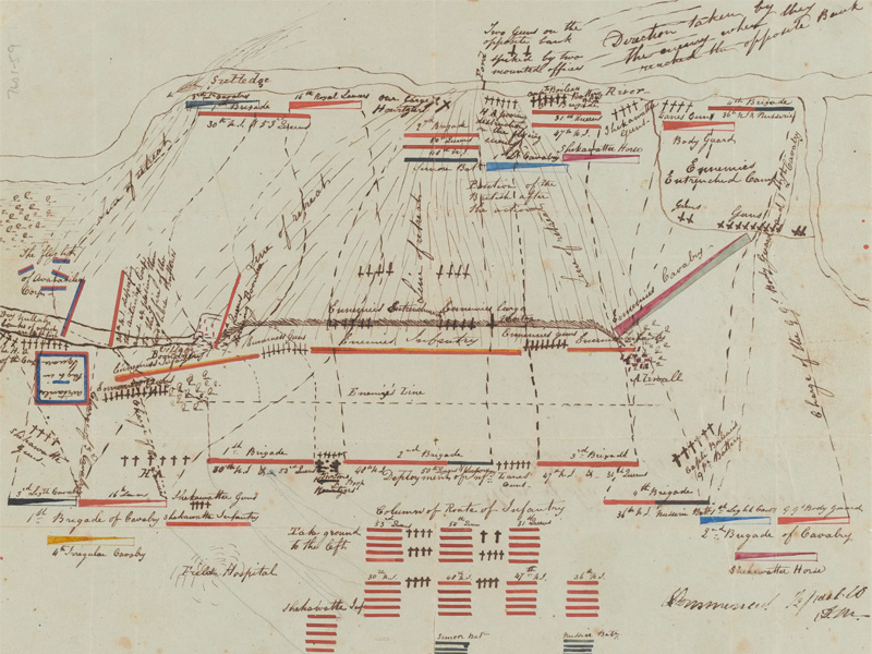 Plan of the Battle of Aliwal, 28 January 1846