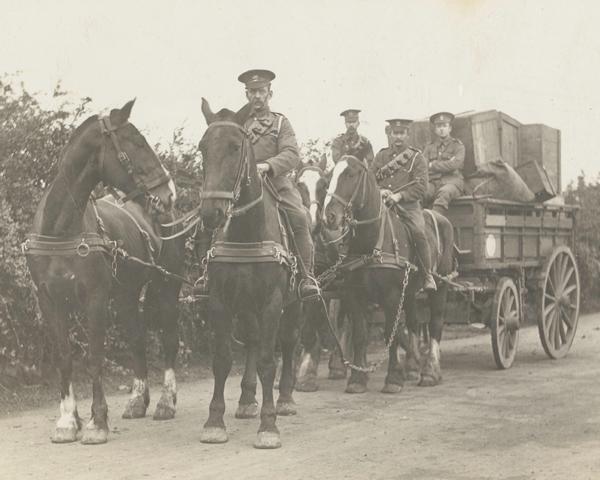 A supply waggon, 1916