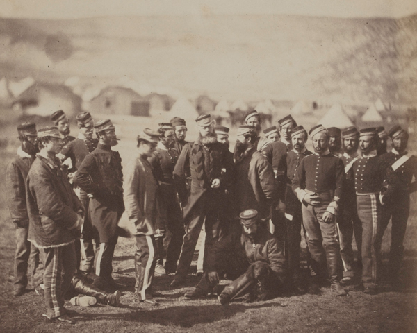 Colonel Doherty and men of the 13th Light Dragoons, Crimea, 1855
