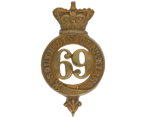 Glengarry badge 69th (South Lincolnshire) Regiment, c1874