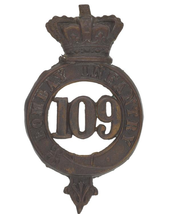 Glengarry badge, 109th Regiment of Foot (Bombay Infantry), c1874