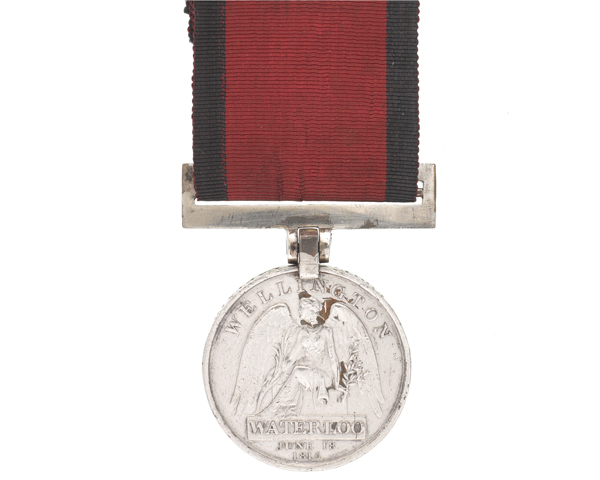 Waterloo Medal 1815 awarded to Captain Archibald Armstrong, 71st (Highland) Regiment (Light Infantry), 1815