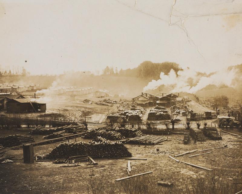 Army lumber yard, 1916