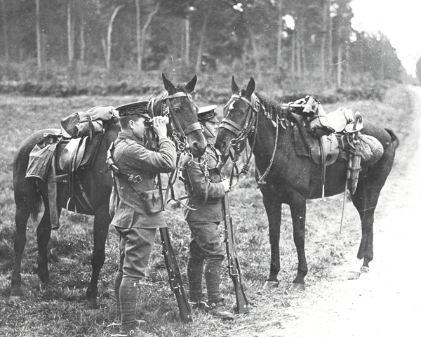'Hussars on the look out', 1914