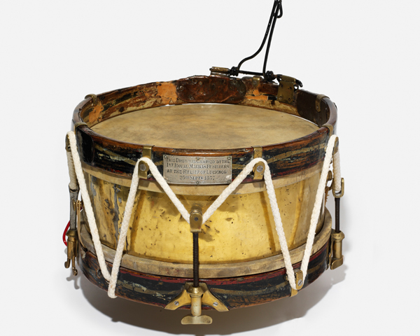 Side drum carried by the 1st Madras European Fusiliers at the Relief of Lucknow, 1857