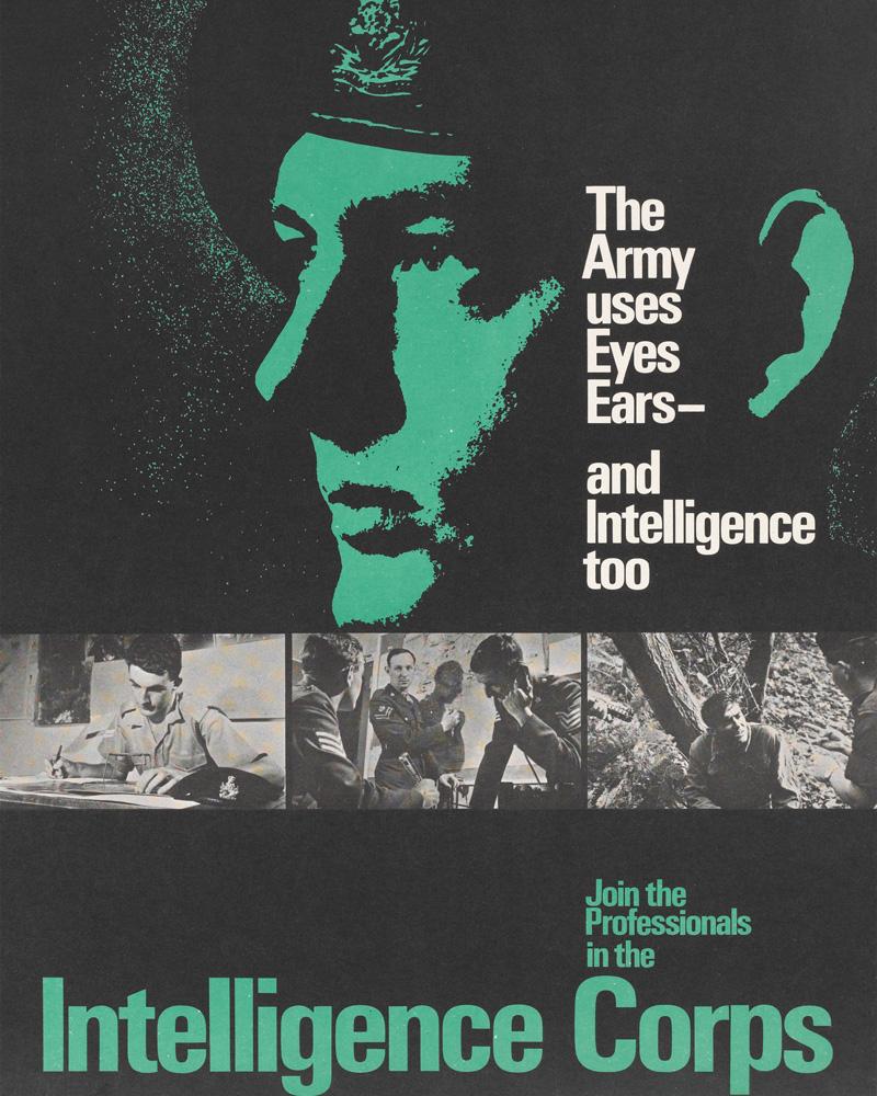 Intelligence Corps recruitment poster, c1968