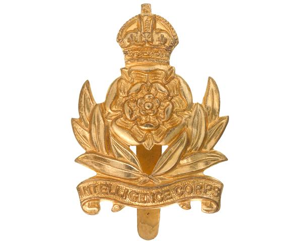 Other ranks' cap badge, Intelligence Corps, c1955