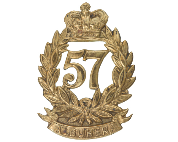 Glengarry badge, 57th (West Middlesex) Regiment of Foot, c1879