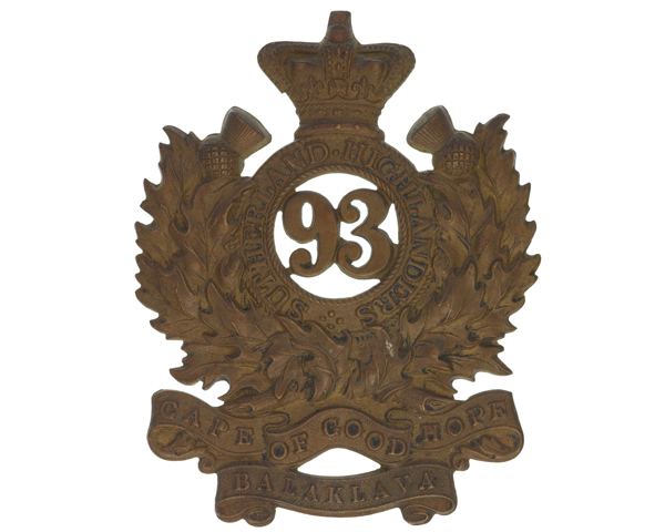 Glengarry badge, 93rd (Sutherland Highlanders), 1876