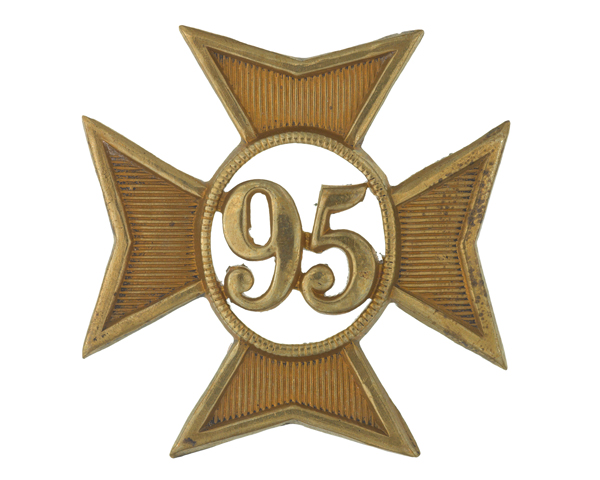 Glengarry badge, 95th (Derbyshire) Regiment of Foot, c1874