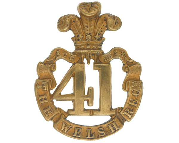Glengarry badge, 41st (The Welsh) Regiment of Foot, c1874