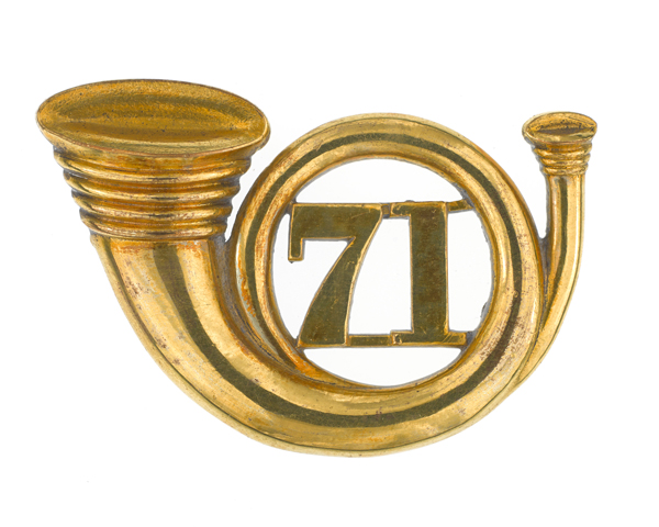 Officers' glengarry badge, 71st (Highland) Regiment of Foot (Light Infantry), 1874