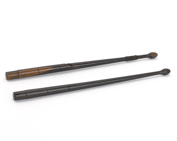 Drumsticks used by Drum Major John Goodger, 94th Foot, during the Peninsular War, c1811