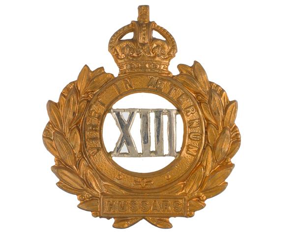 Officer's cap badge, 13th Hussars, c1910