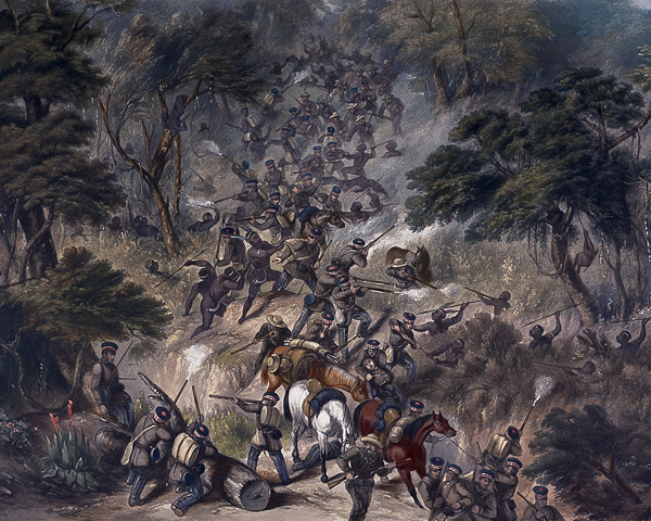74th Highlanders attacked in the Kroomie Forest, 8th Cape Frontier War, 1851