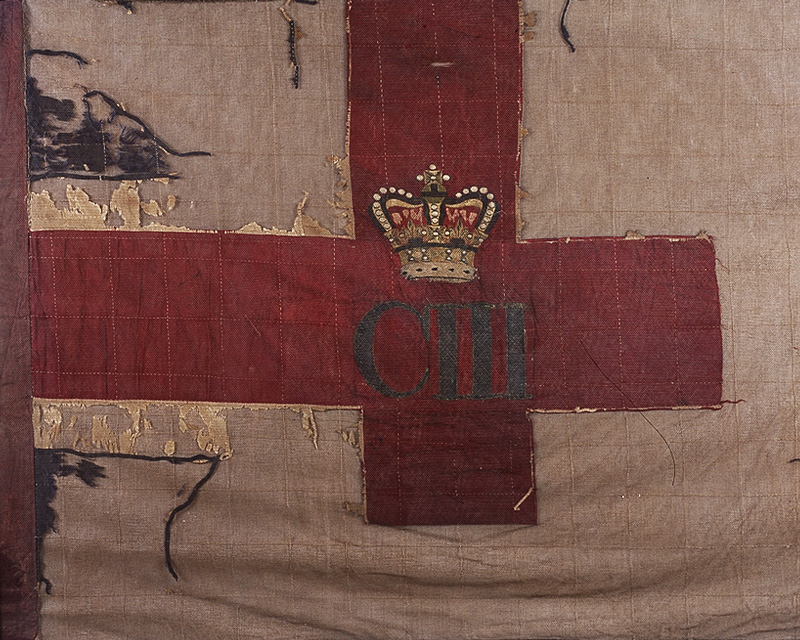 Queen's Colour of the 103rd Regiment of Foot (Bombay Fusiliers), c1871