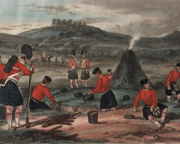 93rd Highlanders at Chobham Camp, 1853