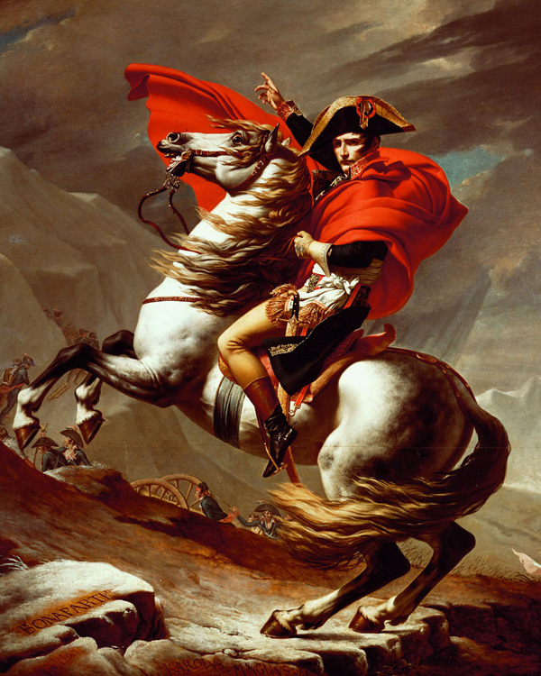 Napoleon at the St Bernard Pass, Jacques-Louis David